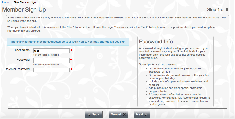 Screen Shot - Password