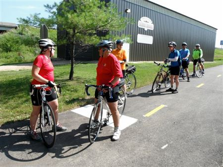 Club ride from Freeport to the Wisconsin State line