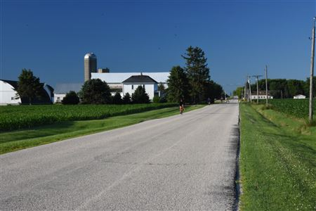 Riders along New Lebanon Road