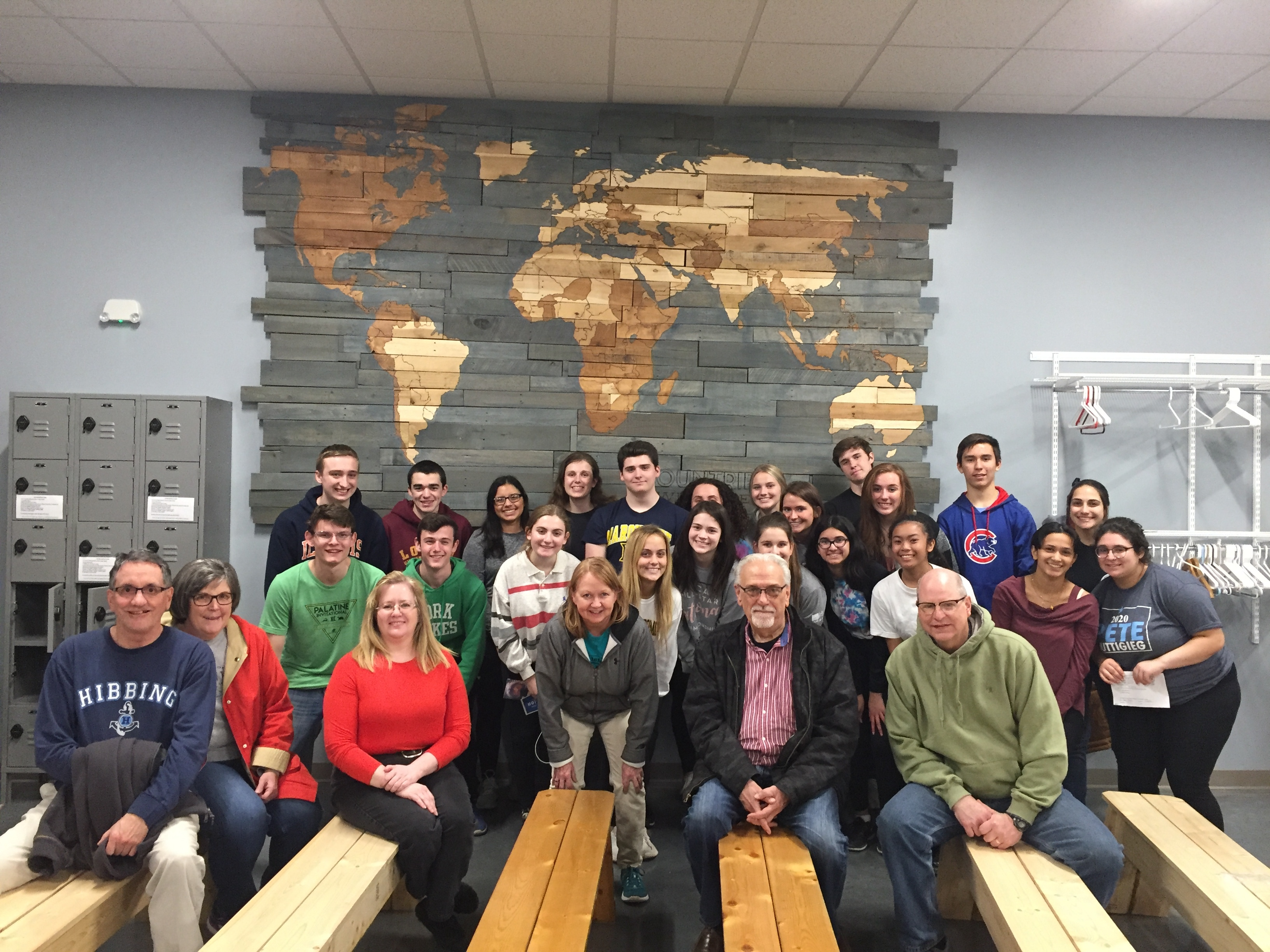 Rotarians and Interact Club members at Feed My Starving Children