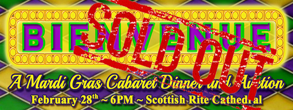 Bienvenue Cabaret Dinner and Auction Sold Out