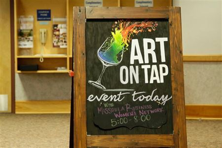 Art on Tap sign