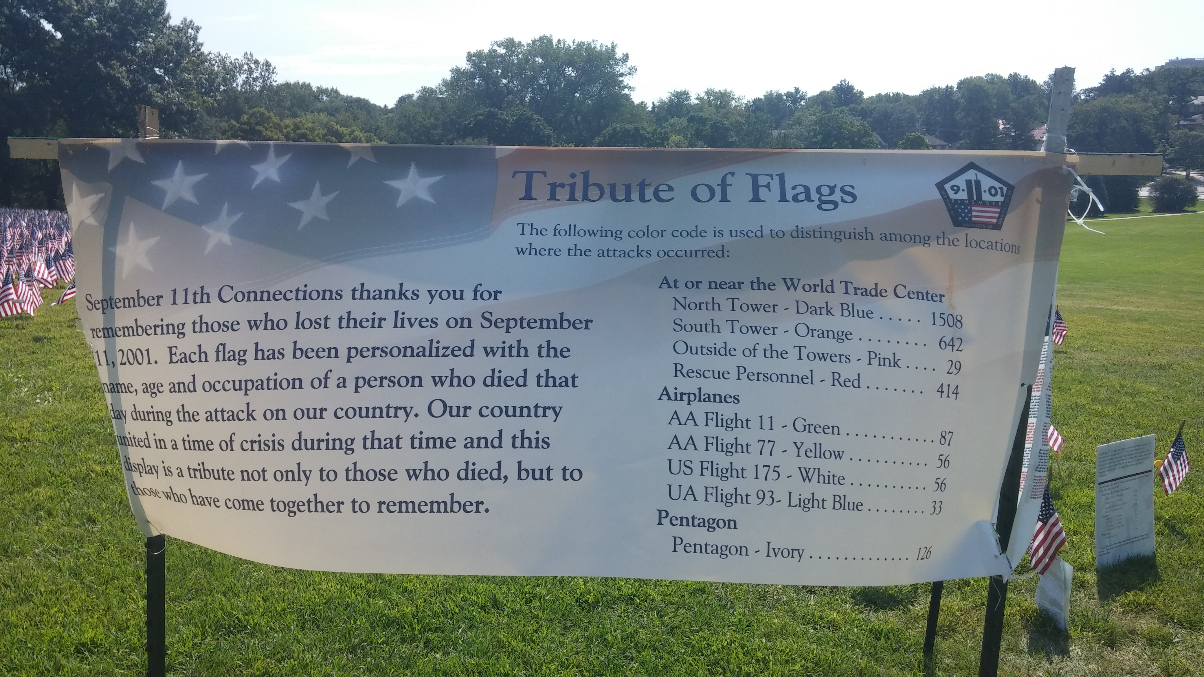 9-11 Tribute Banner