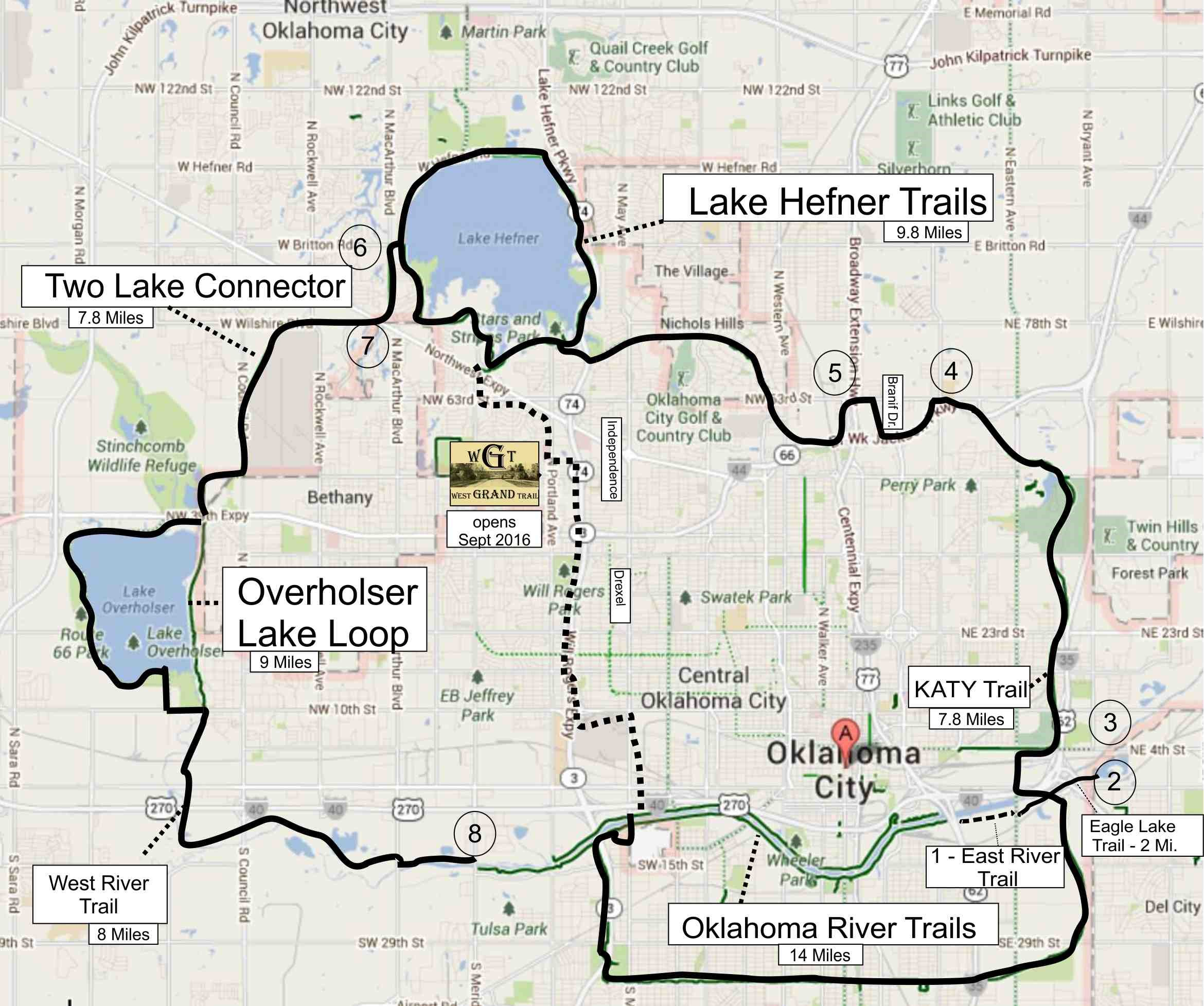 Closing The Loop In OKC Oklahoma Bicycle Society - Detailed map of oklahoma