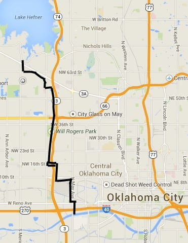 Rides Will Rogers Trail Oklahoma Bicycle Society - Detailed map of oklahoma