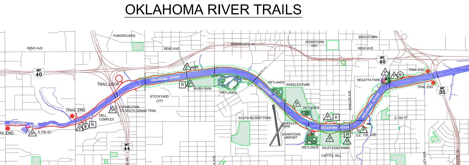 RideRiver Trail Oklahoma Bicycle Society - Oklahoma rivers map