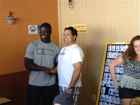 Charger Player #97 Jerry Attaochu