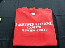 I Survived keystone Short Sleeve T-shirt - click to view details