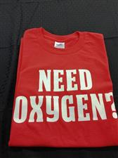 Need Oxygen Short Sleeve T-shirt - click to view details