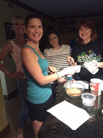 APB Members cooking up some fun at an after hours social.