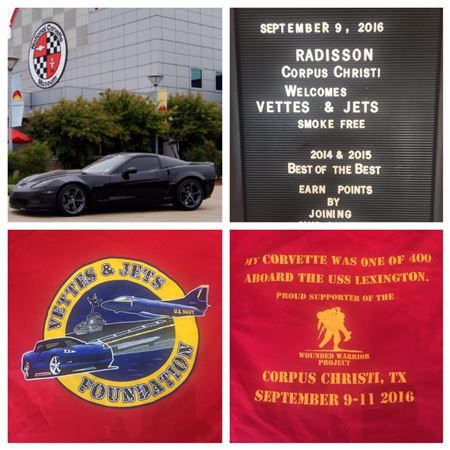 September 11th, 2016 Vettes and Jets on the Lex. Never Forget!NSCC Members, Keith n Susan Triche, Mark n Rose Aucoin, Craig n Michelle Gardner, Fred n Karen Theode, C.J. n Esther DiMarco, attended.