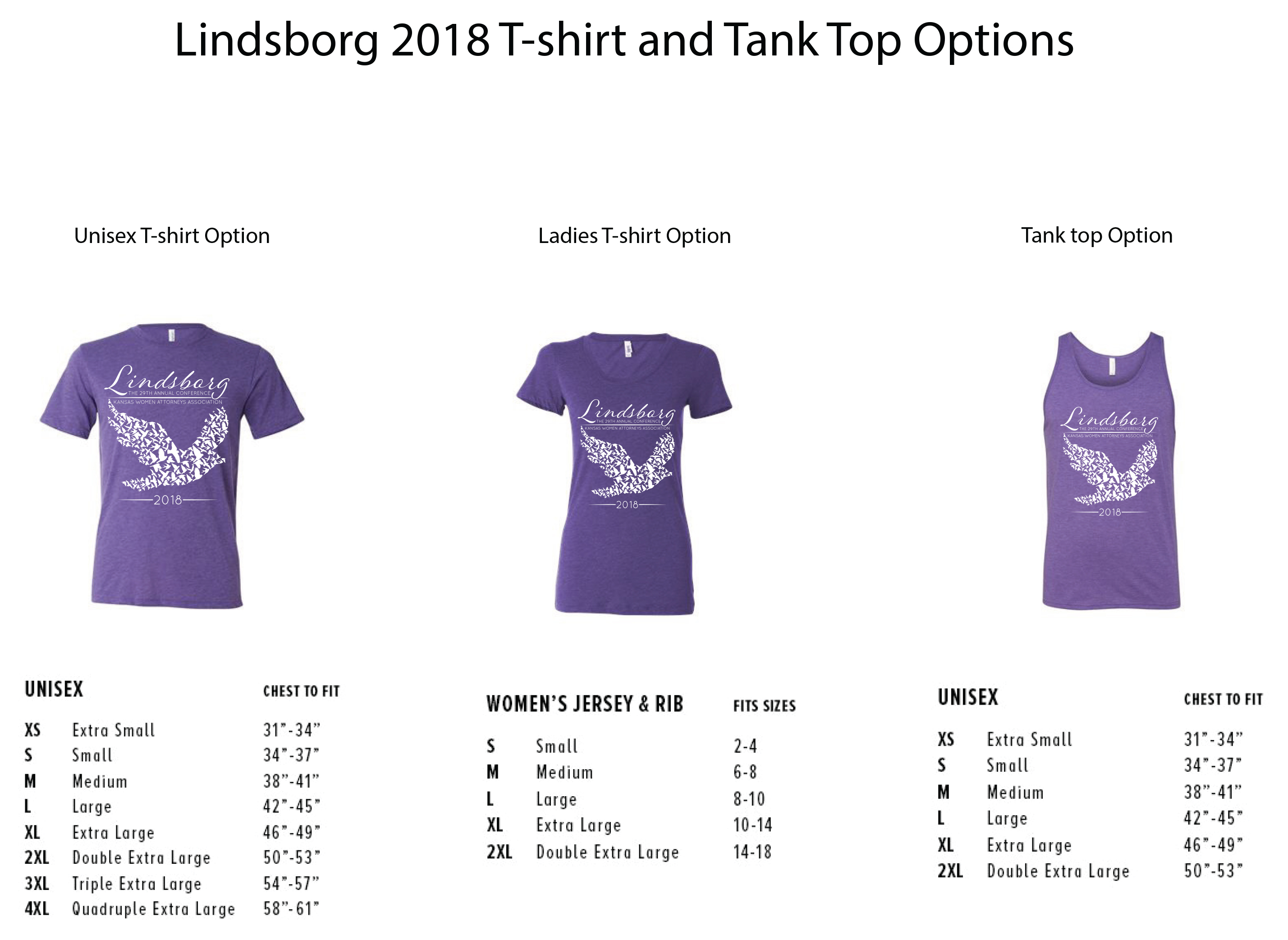 2018 Lindsborg T-shirt options