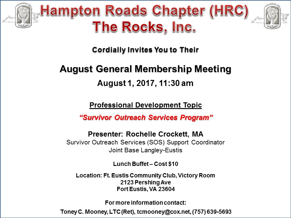 HRC ROCKS Inc 01 Aug 17 GMM Flyer