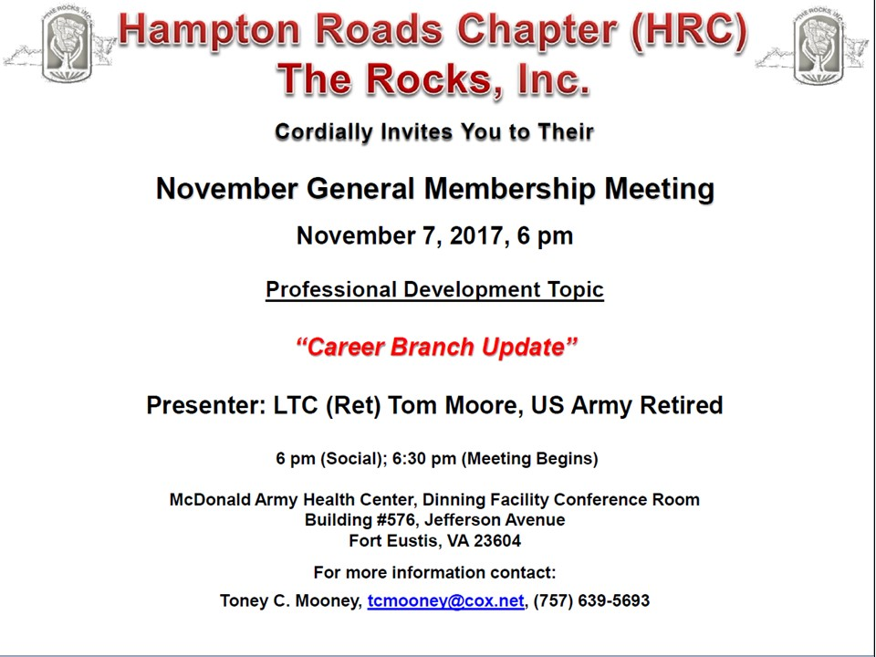 HRC ROCKS, Inc 07 Nov 17 GMM Flyer