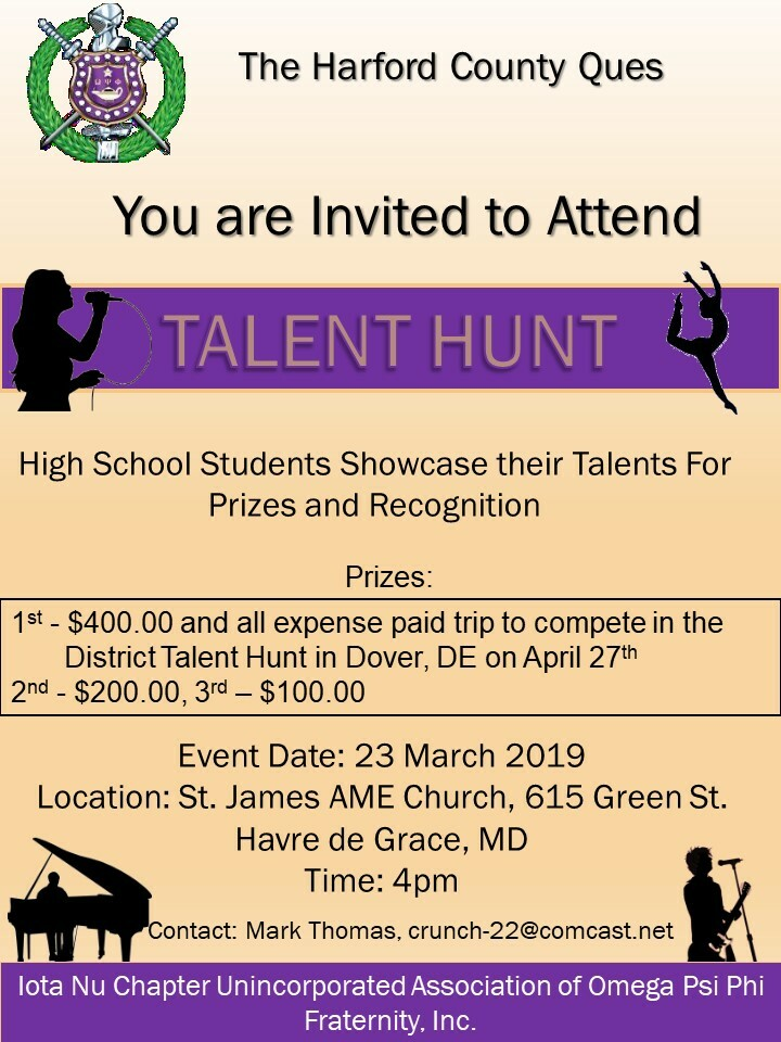 2019 Talent Hunt Event Invite