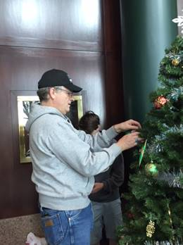 Bill Decorating Tree