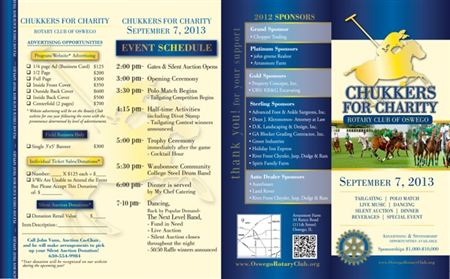 Brochure for Chukkers 2013