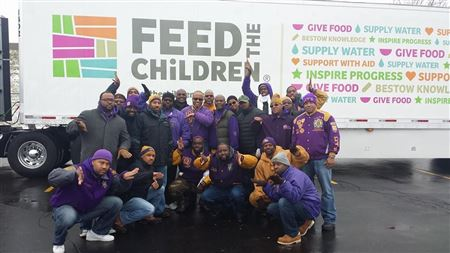 Brothers at Feed the Children 2014