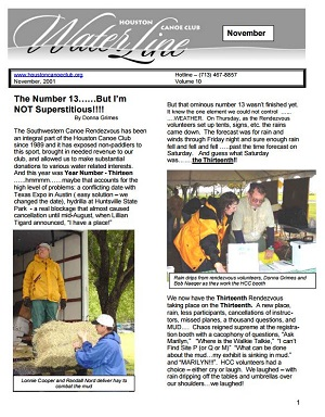 2001 Nov Newsletter