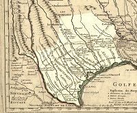 Brazos map 1718 Guillaume L'Isle