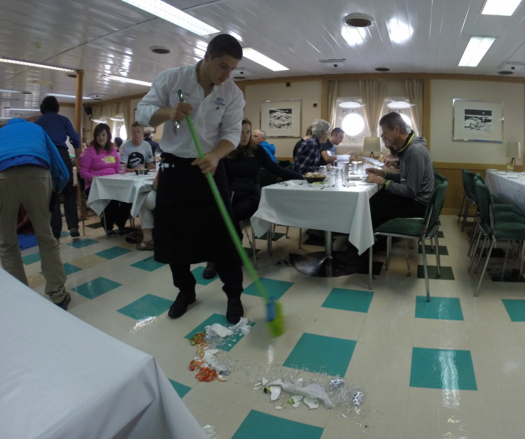 Smashed China in the Drake Passage