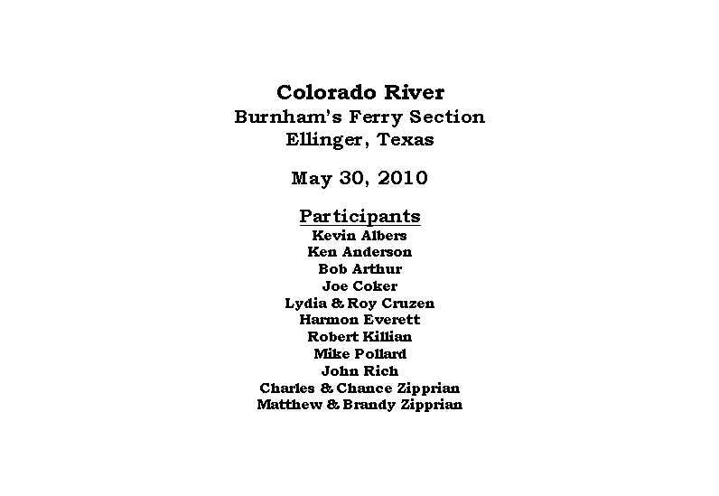Colorado River, May 30, 2010