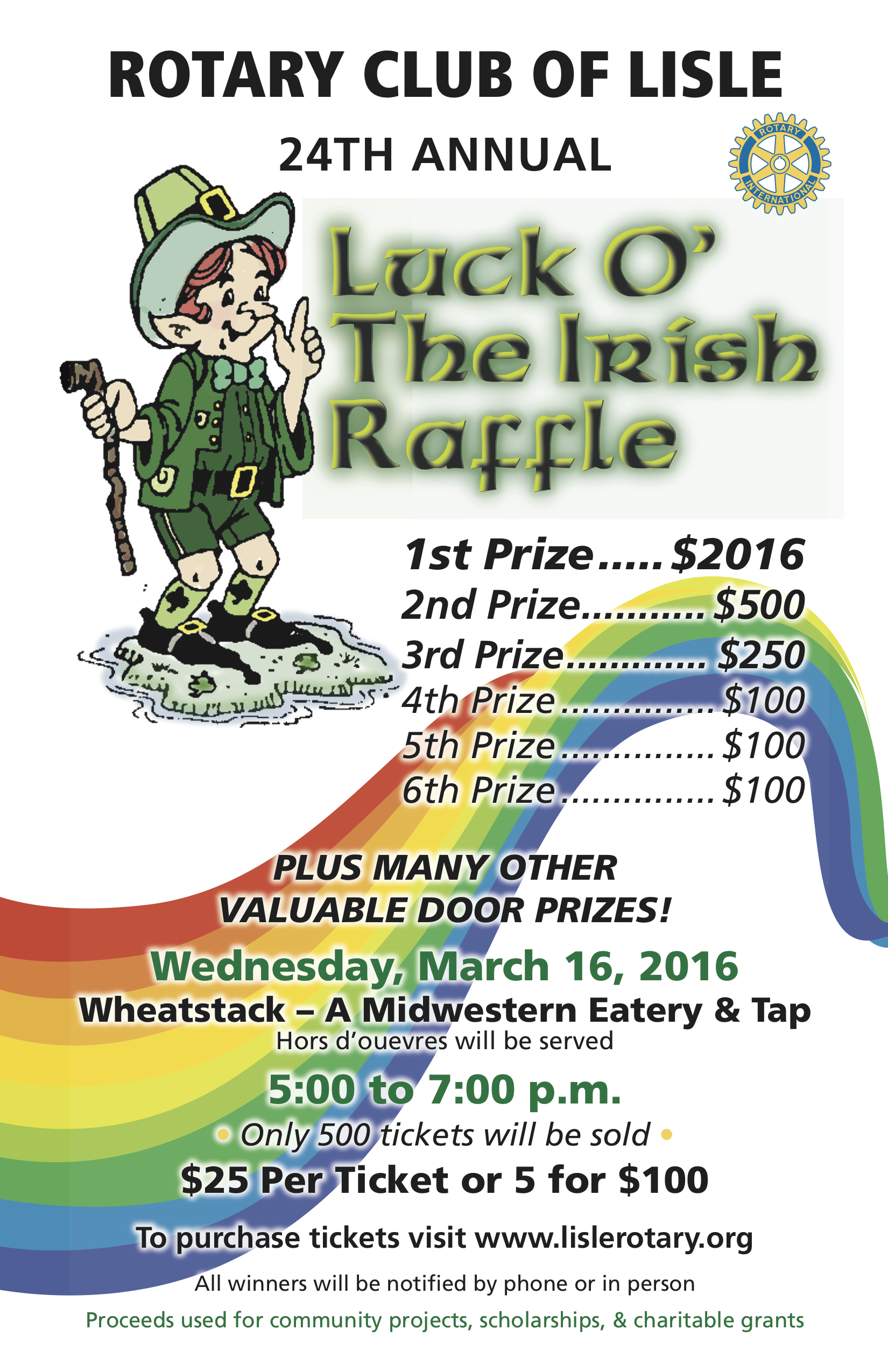2016 Irish Raffle