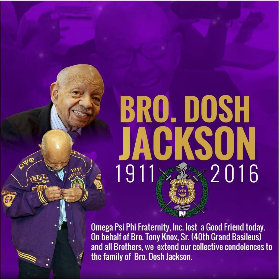 Brother Dosh Jackson, Omega Psi Phi Fraternity Omega Chapter