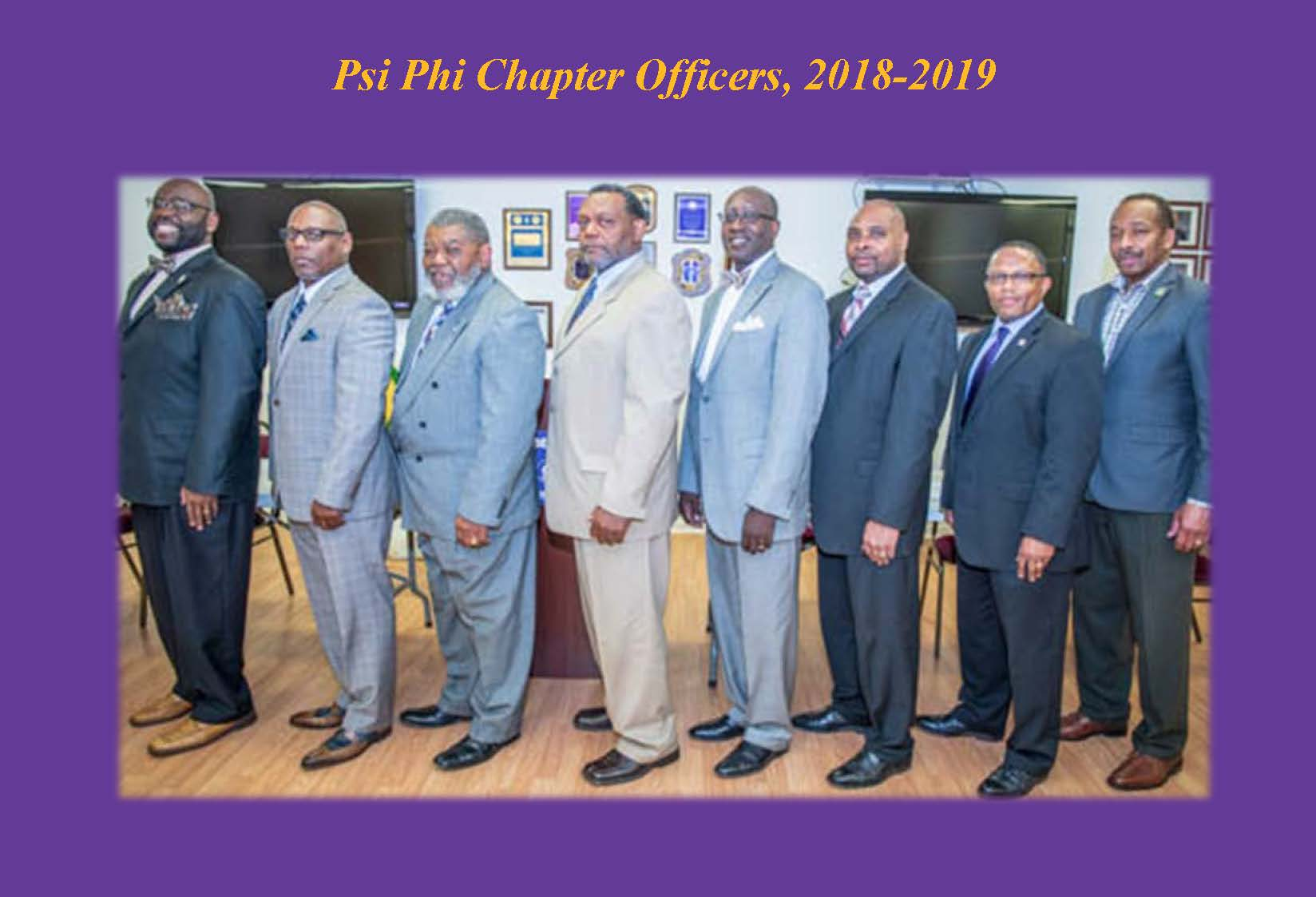 Chapter Officers 2018-2019