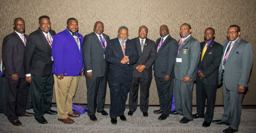 Psi Phi Brothers at 6th District Council Meeting