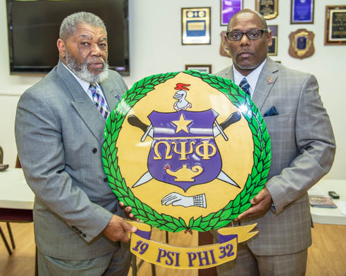 Brothers Linwood Jearld, Basileus, Bro. Tim Smith, Vice Basileus