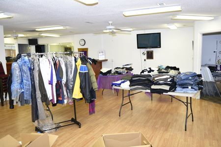 Psi Phi Chapter Clothing drive