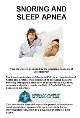 Snoring & Sleep Apnea Brochure