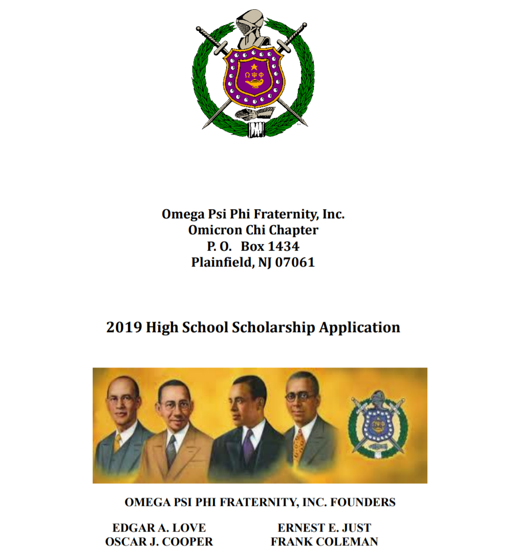 2019_H.S._Scholaship_Application