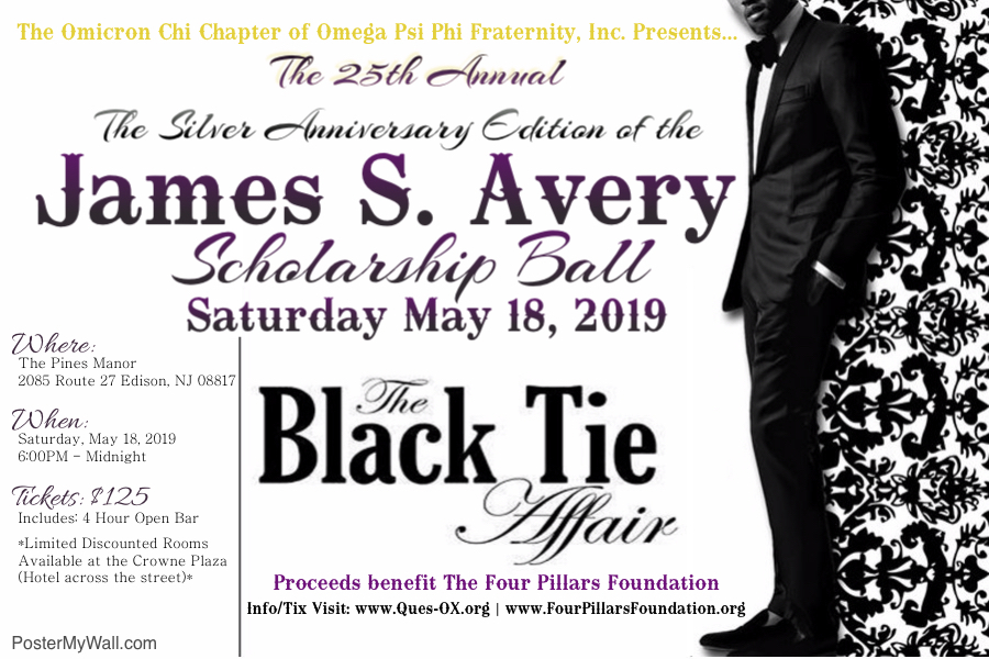 2019 Silver Anniversary James S. Avery Scholarship Ball Flyer