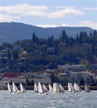 The 2007 Moore 24 Nationals were held in beautiful Hood River, Oregon.  Organized by Hood River Yacht Club and sponsored by Hood River Distillers, the regatta attracted over 20 Moore 24s to the Columb