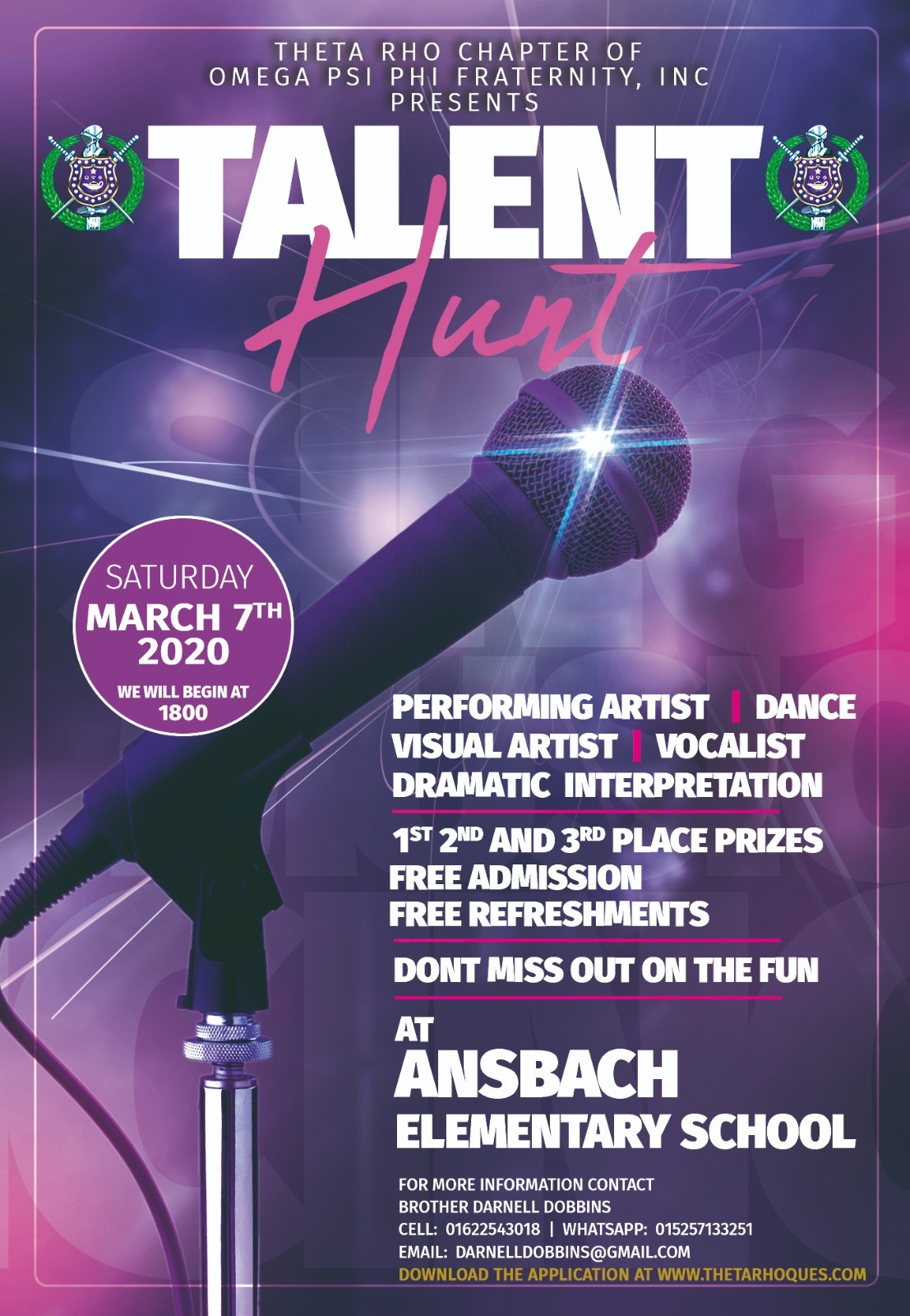 Theta Rho Chapter of Omega Psi Phi Fraternity, Inc. - Talent Hunt 2020