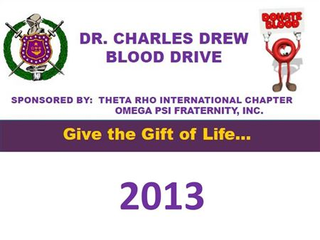 Theta Rho's 2013 Annual Blood Drive