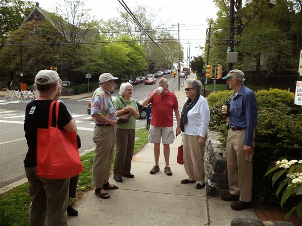 East Falls Village tours Chanticleer.