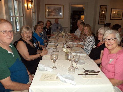 24 EFV members attended the Lunch of the Month at Valley Green Inn on August 15, 2016