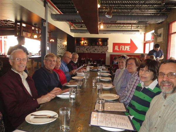 East Falls Village members meet for lunch at In Riva.