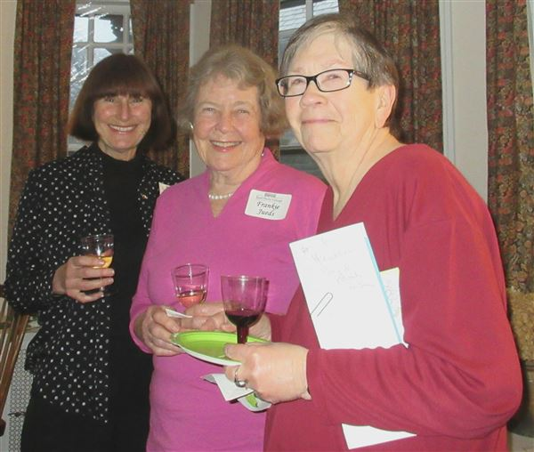 Nearly forty members enjoyed wine and hors d'oeuvres at the home of Phil & Katy Hineline February 23.