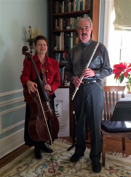East Fallsers John and Katrina Kormanski, of La Bella Nota, presented a lovely musical afternoon on cello and woodwinds.