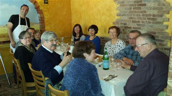 About 20 Village members enjoyed lunch at L'Angolo, 1415 Porter St, on March 24, 2016.