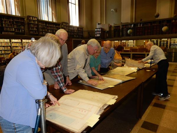 Pictures from the March 9th Tour of the Map Collection at the Central Library.