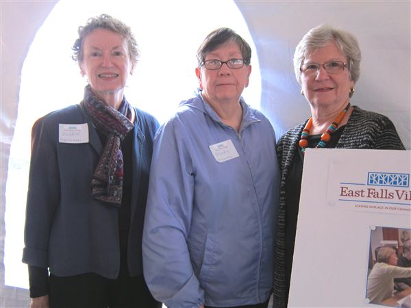 East Falls Village was represented at a table at the Senior Expo held at Roxborough Hospital, October 1, 2015.