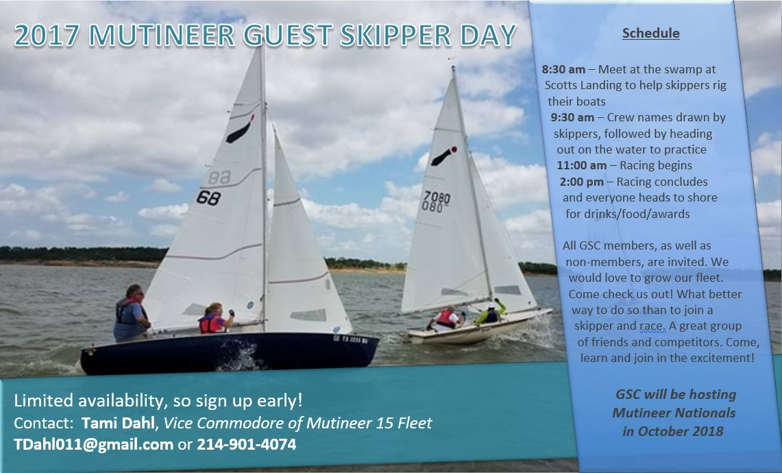 2017 Mutineer Guest Skipper Day