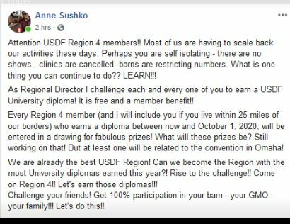 USDF EDUCATION CHALLENGE