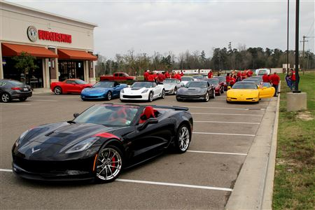 Annual lunch at Middendorf's with 5 Corvette clubs in the area.