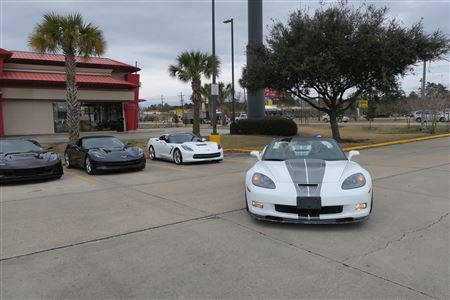 Nice back roads caravan with 14 Vettes to White's Seafood Buffet.